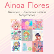 CV/Portfolio. A Design, Illustration, and Drawing project by Ainoa Flores - 05.30.2020