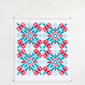 Portuguese Tile Fabric Wall Hanging. A Pattern Design, Printing, and Fiber Arts project by Marta Afonso - 05.30.2020