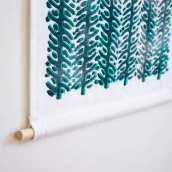 Wild Texture fabric wall hanging. A Pattern Design, Printing, and Fiber Arts project by Marta Afonso - 05.30.2020