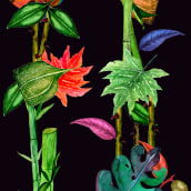 Mi Proyecto del curso: Diseño de patrones ilustrados. A Pattern Design, and Watercolor Painting project by Loan Poulet Fernández - 05.31.2020