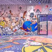 Proyecto para el hotel nhow Amsterdam Rai. Um projeto de Design gráfico, Colagem, Arte urbana, Criatividade, Decoração de interiores e Design de espaços comerciais de David Zuker - 01.06.2020