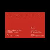 Monsieur Bosc – Identidad Visual.. Un proyecto de Br, ing e Identidad, Diseño editorial, Diseño gráfico y Diseño de logotipos de Gabriela Hernandez - 15.05.2020