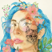 Mi Proyecto del curso: Retrato ilustrado en acuarela. A Digital illustration, Watercolor Painting, and Portrait illustration project by Cristina González - 06.05.2020