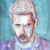 Mi Proyecto del curso: Retrato artístico en acuarela. A Portrait Drawing, Acr, and lic Painting project by Cristhian Rojas Granados - 06.06.2020