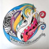 Mi Proyecto final del curso: Técnicas de ilustración para desbloquear tu creatividad.. Un proyecto de Ilustración y Bellas Artes de alizeyya - 25.05.2020