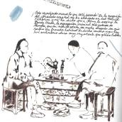 A journey notebook.. Un proyecto de Tipografía, Dibujo a lápiz, Pintura a la acuarela y Dibujo artístico de Julia Pelletier - 02.08.2006