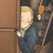 Behind the bookcase/ Anne Frank. Un proyecto de Ilustración de Valentina Toro - 16.10.2019