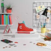 CONVERSE #COLLEGIATE 2. Um projeto de 3D, Direção de arte e Animação 3D de noelia lozano cardanha - 09.06.2020