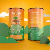 Monos - Café Nativo. Un proyecto de Ilustración, Br, ing e Identidad, Diseño gráfico y Packaging de William Ibañez Ararat - 13.06.2020
