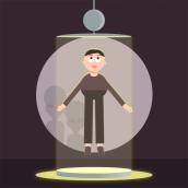 Personaje abducido. Um projeto de Motion Graphics, Animação, Design de personagens, Animação de personagens, Animação 2D e Animação 3D de Antonio Hidalgo - 13.06.2020