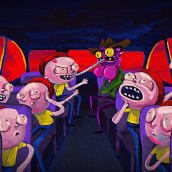 Rick and Morty / Dreams. Um projeto de Ilustração, Motion Graphics, Animação, Direção de arte, Animação de personagens e Animação 2D de Numecaniq - 16.04.2020
