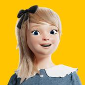 Girl01. Un proyecto de Ilustración, 3D, Diseño de personajes, Modelado 3D, Diseño de personajes 3D y Diseño 3D de Wesley Sales - 16.06.2020