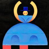 Geometría. Um projeto de Design de personagens, Pintura, Pintura Acrílica e Sketchbook de Sandra Freijo Serrano - 19.06.2020