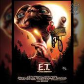 ET - Poster alternativo - Mixed media. Um projeto de Desenho, Ilustração digital, Desenho de Retrato, Desenho realista e Desenho artístico de Mariano Mattos - 22.06.2020