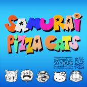 Samurai Pizza Cats / Tatsunoko 50th anniversary. Un progetto di Illustrazione e Illustrazione digitale di Jesús Félix-Díaz - 23.06.2020