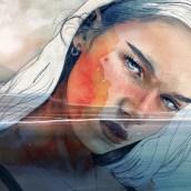 FIJAR LA VISTA AL FONDO. A Digital illustration, Watercolor Painting, and Portrait illustration project by Elena Garnu - 06.27.2020