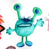 Abschlussprojekt  Illustration Techniques to Unlock your Creativity course. Un proyecto de Ilustración, Bellas Artes, Pintura y Dibujo de Jutta Kohlbeck - 01.07.2020