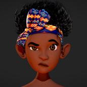 Rosi - Black female child. Un projet de 3D, Character Design, Conception de jeux  , et Conception de personnages 3D de Roman C. Ojer - 01.04.2020
