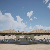 Meltemi, chiringuito de playa.. Un proyecto de Arquitectura interior de Sol Celeste Araque Ramirez - 07.07.2020