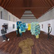 Espacio expositivo Van Gogh, Centre del Carmen Valencia. Un proyecto de Diseño de interiores de Sol Celeste Araque Ramirez - 07.07.2020