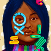 Mi Proyecto del curso: Retrato creativo ilustrado con Procreate. A Design, Illustration, Portrait Drawing, Realistic drawing, and Digital Drawing project by camilo182 - 07.09.2020