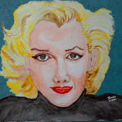 Marilyn Monroe. A Watercolor Painting project by Zaida Olvera - 07.11.2020