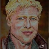Brad Pitt. A Watercolor Painting project by Zaida Olvera - 07.12.2020
