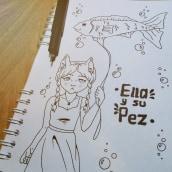 She and Her Fish Anthology (2018-2019). Un proyecto de Ilustración e Ilustración con tinta de Paola Andrea Contreras Posso - 12.10.2018