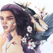 Guardiana, guardianes. Un proyecto de Ilustración y Pintura a la acuarela de Fefa Cox - 13.07.2020