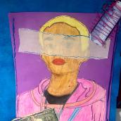 Mi Proyecto del curso: Técnicas de bordado experimental sobre papel. Un proyecto de Bordado, Ilustración e Ilustración de retrato de Carlos Lara - 13.07.2020