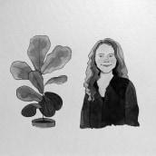 Mi Proyecto del curso: Introducción a la ilustración con tinta china. Um projeto de Ilustração, Ilustração de retrato e Ilustração com tinta de pvalenzuelacruz - 16.07.2020