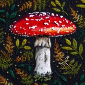 The Fly Agaric Mushroom . Um projeto de Bordado de Emillie Ferris - 16.07.2018