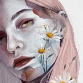 """""""EL INCENDIO"""". A Digital illustration, Portrait illustration, Portrait Drawing, and Digital Drawing project by Elena Garnu - 07.20.2020"""