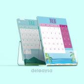 Calendario 2020. Un proyecto de Diseño gráfico de Marta Ramírez de Loaysa - 01.07.2020