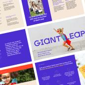 Pitch Deck for Giant Leap. Un progetto di Design, Br e ing e identità di marca di Katya Kovalenko - 01.02.2020