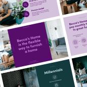 Pitch Deck for Becca's Home. Un progetto di Design , e Graphic Design di Katya Kovalenko - 23.02.2020