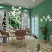 Mi Proyecto del curso: Iniciación al diseño de interiores. A Design, 3D, Architecture, and Decoration project by Florencia Morales - 07.26.2020