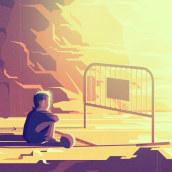 Forgotten   Childhood. Ilustración editorial. Un proyecto de Ilustración, Publicidad y Diseño editorial de Sergio Picazo Ferro - 26.07.2020