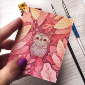 Little creature. A Watercolor Painting project by Alinailustra - 07.29.2020