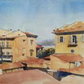 Florence, watercolor. Un projet de Architecture, Beaux Arts , et Peinture de Ekaterina Chistiakova - 30.07.2020