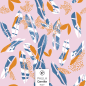 Paper Cut Out Leaves (disponible en @Patternbank). A Graphic Design, and Pattern Design project by María Paula Gentile - 08.01.2020