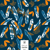 Dark Leaves (Disponible en @Patternbank). A Graphic Design, and Pattern Design project by María Paula Gentile - 08.01.2020