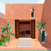 Mi Proyecto del curso: Representación gráfica de proyectos arquitectónicos. A Architecture project by Clara Carvalho Beé - 08.03.2020