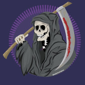 La Parca / The Reaper. Un proyecto de Diseño de personajes, Ilustración vectorial e Ilustración digital de federico capón - 12.08.2020
