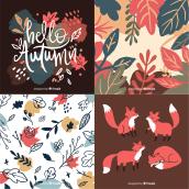 Autumn & Winter vector illustration resources for Freepik. A Illustration, Lettering, Vector Illustration, Digital illustration, Children's Illustration, and Digital Lettering project by Alinailustra - 08.13.2019