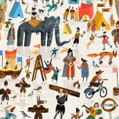 Frost Fair. A Illustration project by Nicholas Stevenson - 08.14.2020