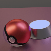 Pokeball & badge. A 3D, and 3d modeling project by Javier Castañeda - 08.15.2020