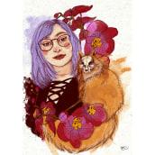 Mi Proyecto del curso: Técnicas de ilustración con acuarela digital. A Digital illustration, and Portrait illustration project by Paula Puerta - 08.16.2020