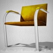 SketchUp e pintura digital: Cadeira BRNO. Um projeto de 3D, Design de móveis, Modelagem 3D, 3D Design e Pintura digital de Guilherme Coblinski Tavares - 15.04.2019
