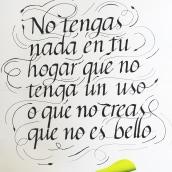 Mi Proyecto del curso: Introducción a la caligrafía itálica. Un proyecto de Tipografía y Caligrafía de Margarita Muñoz - 17.08.2020